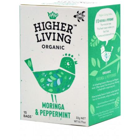 MORINGA & PEPPERMINT - Infusion Moringa et menthe poivrée - Higher Living bio