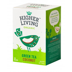 GREEN TEA COCONUT - Thé vert à la noix de Coco bio - Higher Living